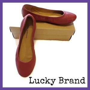 Lucky Brand Emmie Red Flats
